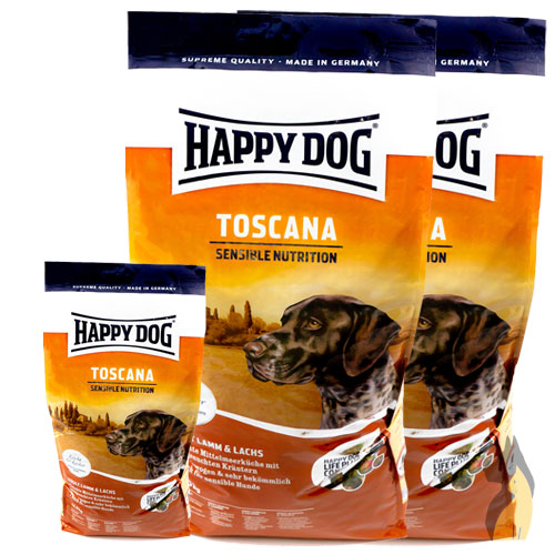 happy dog supreme toscana sensible nutrition 2x 12 5 4 kg lamm lachs oliven l ebay. Black Bedroom Furniture Sets. Home Design Ideas