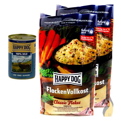 happy dog flocken vollkost classic flakes 2 x 10 kg 20 kg 200 g lunge ebay. Black Bedroom Furniture Sets. Home Design Ideas