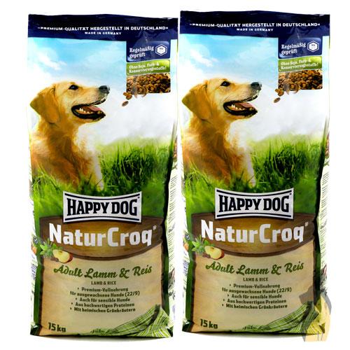 happy dog naturcroq lamm reis 2 x 15 kg 30 kg hunde trockenfutter ebay. Black Bedroom Furniture Sets. Home Design Ideas