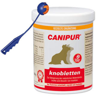 Canipur knobletten 1000 g + Trixie Shooter