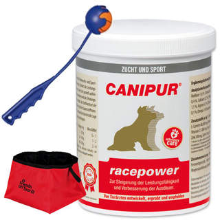 Canipur racepower 1000 g + Trixie Shooter + Trixie Reisenapf Friends on Tour