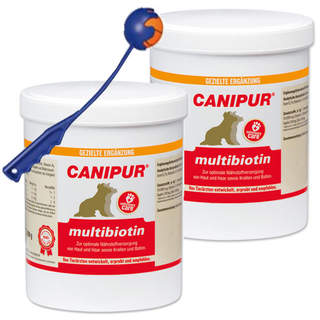 Canipur multibiotin 2 x 500 g + Trixie Shooter