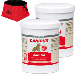 Canipur carotin 2 x 500 g + Trixie Reisenapf Friends on Tour