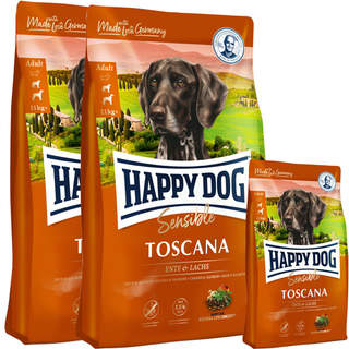 2 x 12,5 + 4 kg Happy Dog Supreme Sensible Toscana
