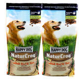 2 x 15 kg Happy Dog NaturCroq Adult Rind