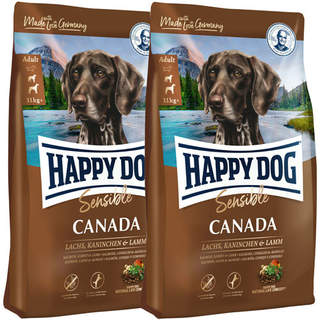 2 x 12,5 kg Happy Dog Supreme Sensible Canada