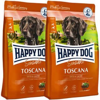 2 x 4 kg Happy Dog Supreme Sensible Toscana