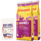 2 x 15 kg Josera Miniwell + 70 g Canius Entenbrust Filet