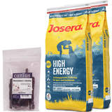 2 x 15 kg Josera High Energy + 70 g Canius Rinderbrust...