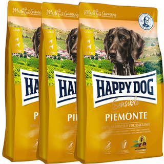 3 x 10 kg Happy Dog Supreme Sensible Piemonte