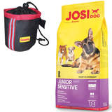 18 kg Josera JosiDog Junior Sensitive + Josera Knuspiebag
