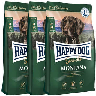 3 x 10 kg Happy Dog Supreme Sensible Montana