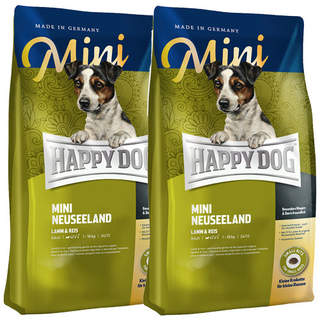 2 x 4 kg Happy Dog Supreme Mini Neuseeland