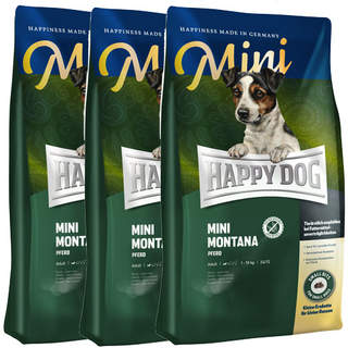 3 x 4 kg Happy Dog Supreme Mini Montana