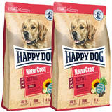2 x 15 kg Happy Dog NaturCroq Adult Active