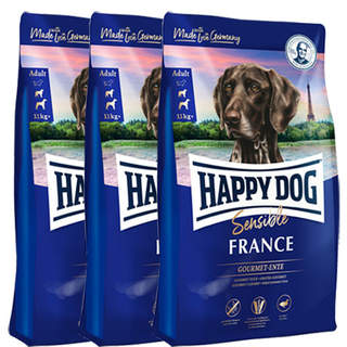 3 x 4 kg Happy Dog Supreme Sensible France