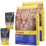 2 x 10 kg Josera DailyCat + 2 x 70 g Josera Filet...