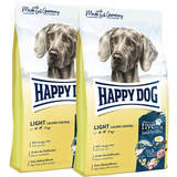 2 x 12 kg Happy Dog Supreme Fit & Vital Light Calorie...