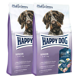 2 x 12 kg Happy Dog Supreme Fit & Vital Senior