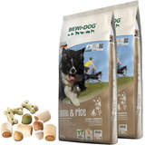 2 x 12,5 kg Bewi Dog Lamb & Rice + 400 g Canius...