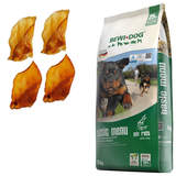 25 kg Bewi Dog Basic Menu + 4 Rinderohren