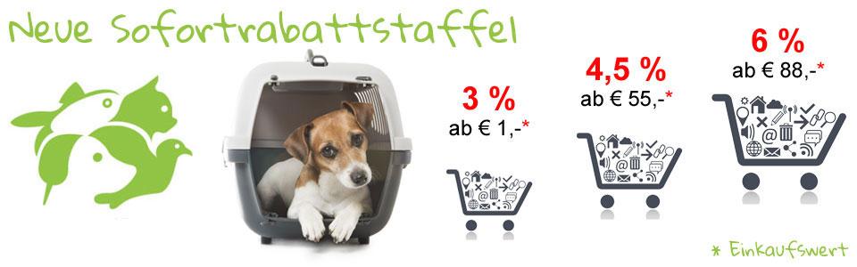 Neue Rabattstaffeln bei Tierfutterkiste.com